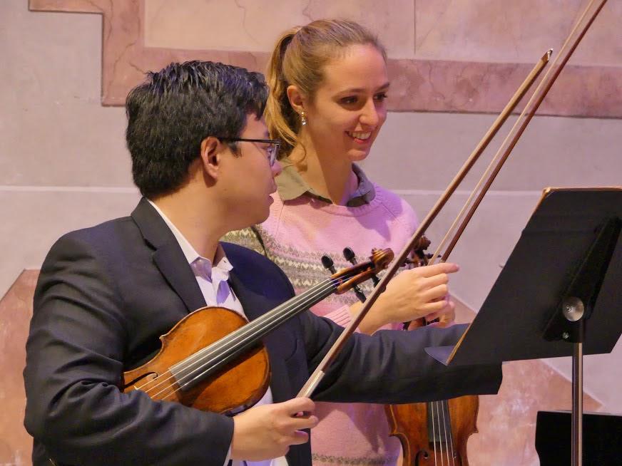 Addison Teng and student