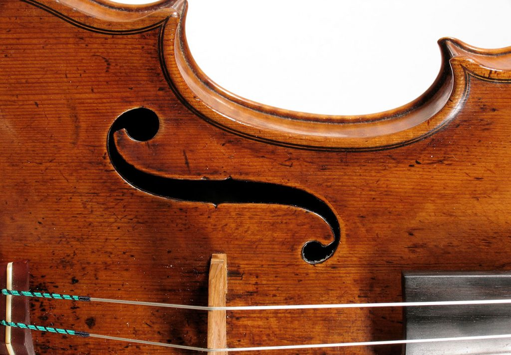 Amati violin detail young artist program