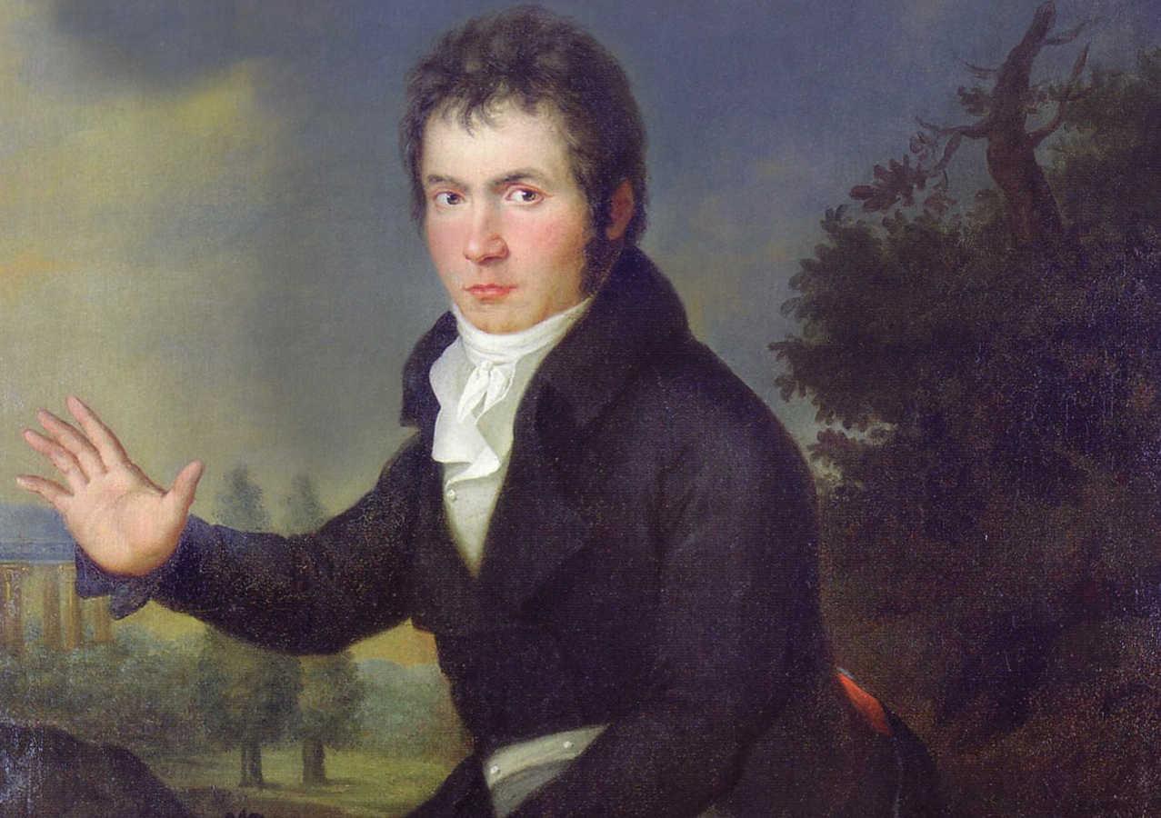 Beethoven by Joseph Mahler c.1804