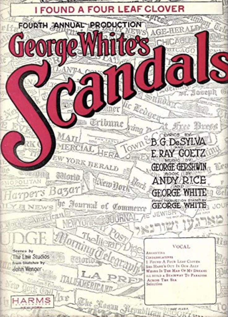 Scandals of 1922 playbill
